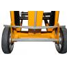 zoom sur les roues du Mini gerbeur manivelle 120 kg