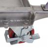 Table élévatrice inox 100Kg Double ciseaux zoom sur la roue